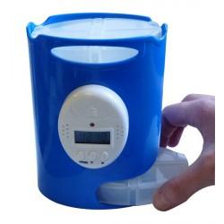 Pilulier électronique 7 jours poids 245 g 5 alarmes programmables - HISPILU03