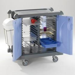 Chariot petit déjeuner Chariot composite avec partie centrale modulable-11010