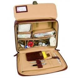 MALLETTE Médecin Delux cuir Doctor Fermeture à clé Ampoulier isotherme-MEDOCT04_M