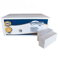 3750 Essuie-mains microgaufrés pliés en Z blanc 2x20g/m² - 2 plis - 24x24cm - H256MSM