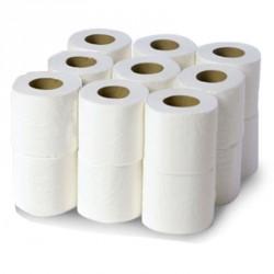 Papier toilette compact 2x15.5g/m² - Carton de 18 rouleaux - 2 plis blanc 500 formats - 10x11cm - I232LFM
