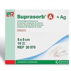 Pansement d'alginate de calcium + Argent Suprasorb®A 5x5cm Boite de 10 - 20570