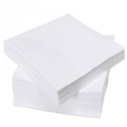 Serviette de table pure ouate 2x17g/m² - Paquet de 3000 - 2 plis - 30x30cm - NH412BL